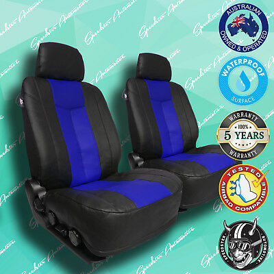 DAF CF75 TRUCK BLUEBLACK LEATHER CAR FRONT SEATCOVERS VINYL ALL OVER SEAT