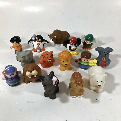 Lot Of 15 Fisher Price Little People Zoo Farm Safari Animals Alphabet Assorted
