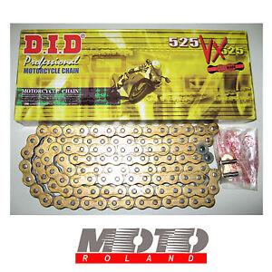 CATENA-da-MOTO-DID-passo-525-VX-RING-ORO-114-maglie-G-amp-B-X-RING-PROMOZIONE