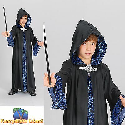 Boys Wizard Costume (KIDS FAIRYTALE MYTHICAL LEGEND WIZARD ROBE - Age 3-13 - Boys Fancy Dress)