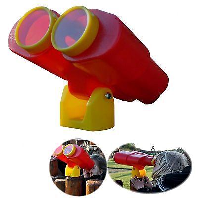 Fernglas Fernrohr Spielzeug rot für Stelzenhaus Baumhaus Spielturm Kletterturm