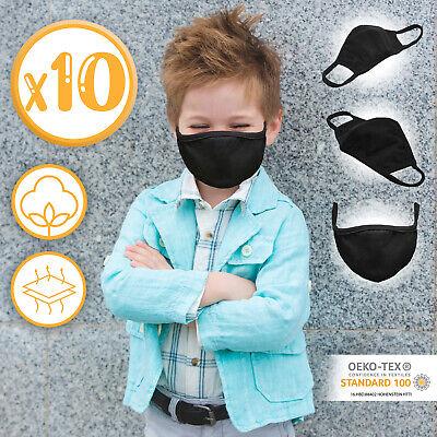 Jago® Mund-Nasenschutz für Kinder Stoffmaske Gesichtsmaske 10er Pack Baumwolle