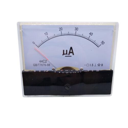 US Stock DC 0~50uA Class 1.5 Accuracy Analog Amperemeter Panel Meter Gauge 44C2