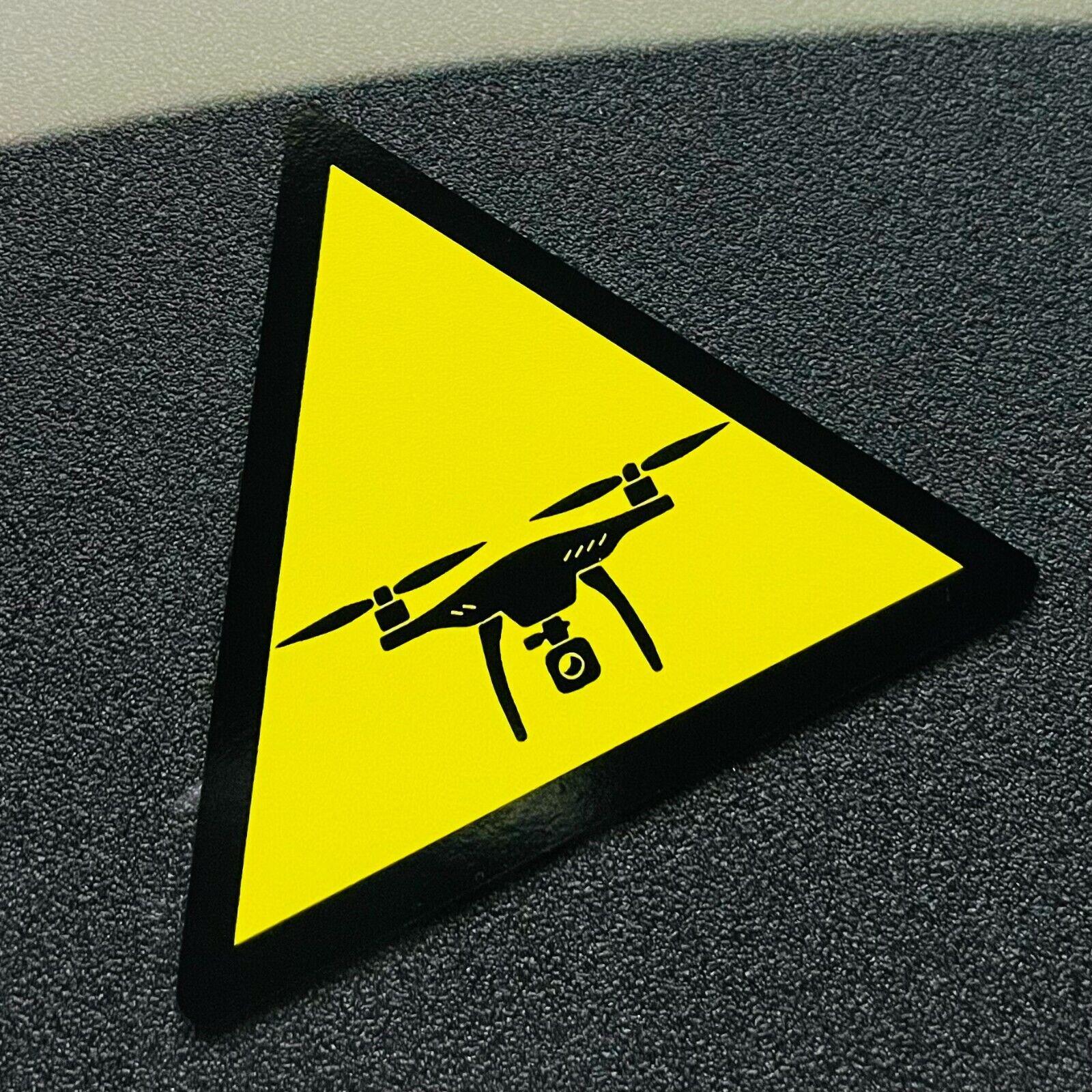 DROHNE Aufkleber Sticker Warnung Dreieck lustig Pilot Schild UV- Wetter -fest