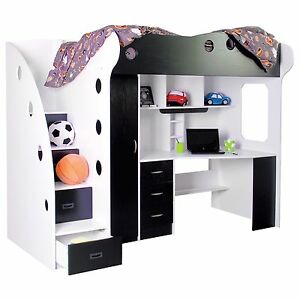 Nika loft bed Black and White