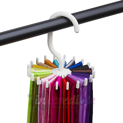 Rotating Tie Rack Adjustable Tie Hanger Holds 20 Neck Ties Tie Organizer for Men Closet Organizers