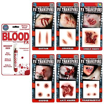 Tinsley Transfers 3D Scars Wounds Hollywood Film Quality Halloween FX Make Up](Hollywood Fx Halloween Makeup)