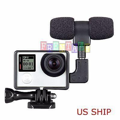Frame Housing Case + External Microphone + Adapter Kit for GoPro Hero 3 3+ 4