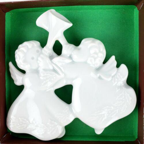 Haviland Limoges Porcelain Trumpeting Christmas Angels 1983