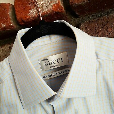 Franco Exclusive GUCCI Classic Button Down Shirt 100% Egyptian Cotton (Gucci Egypt)