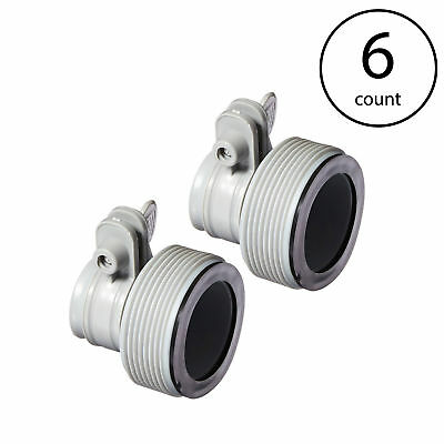 Intex Replacement Hose Adapter B w/ Collar for Filter Pump Conversion (6 Pack) (Intex Replacement Filter)