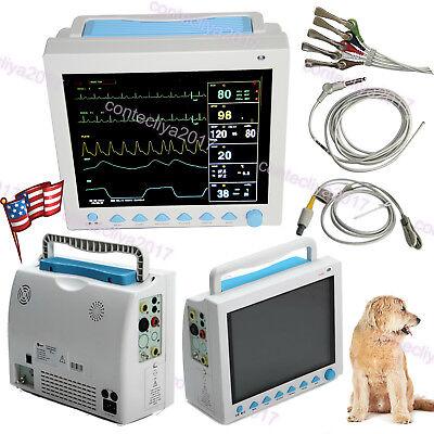 Fdace Contec Cms8000 Vet Veterinary Patient Monitorecgnibpspo2resptemppr