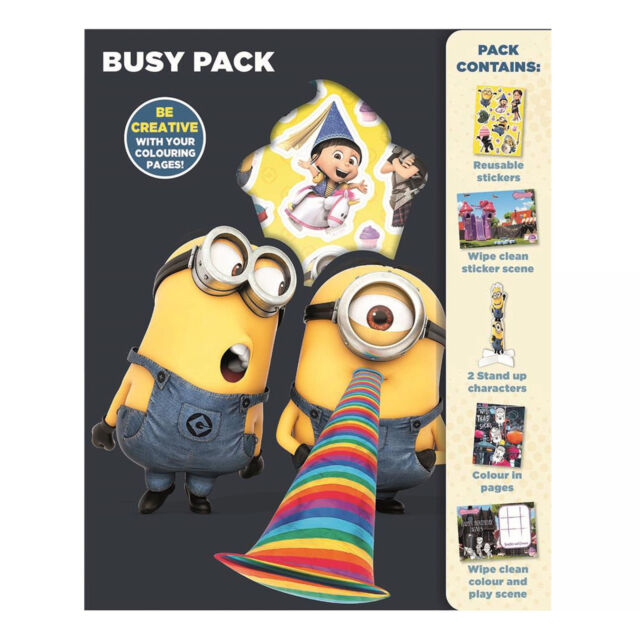 Children's Activity BUSY PACK Despicable Me Minions
