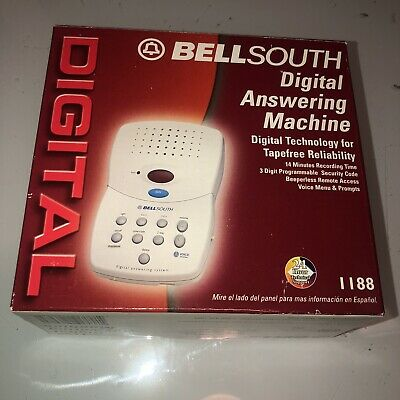 BELL SOUTH 1188 DIGITAL REMOTE ACCESS ANSWERING MACHINE VOICE TIME/DAY