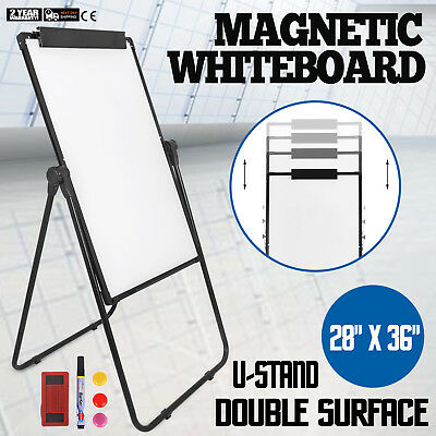 Whiteboard 3624 U-stand Magnetic Dry Erase Easel Height Adjustable Double Side