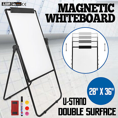 Whiteboard Stand - U-Stand Magnetic Dry Erase White Board Easel Height Adjustable Reversible