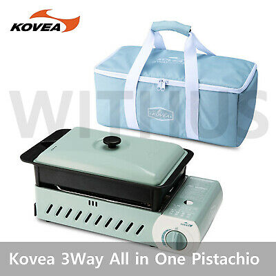 KOVEA Guibada 3 WAY All-in-One Pistachio Multi Stove M with Carry Bag & Grill