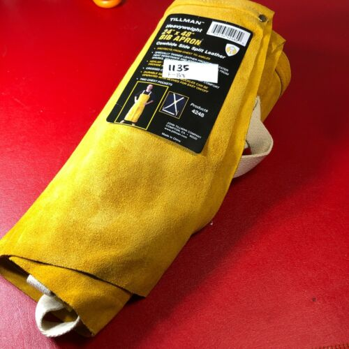 "Tillman Heavyweight 24"" x 48"" Bib Apron Cowhide Side Split Leather Heat Protect"