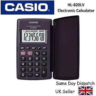 CASIO HL-820LV HL820LV CALCULATOR - Large Display, Pocket size - inc COVER
