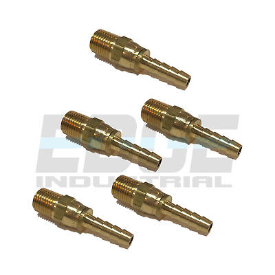 5 Pieces 14 Swivel Hose Barb X 14 Male Npt Brass Fitting Gas Fuel Water Air