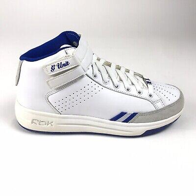 Reebok RBK G Unit G6 Mid Womens Size 8.5 Shoes White Blue 10-112371 Straps
