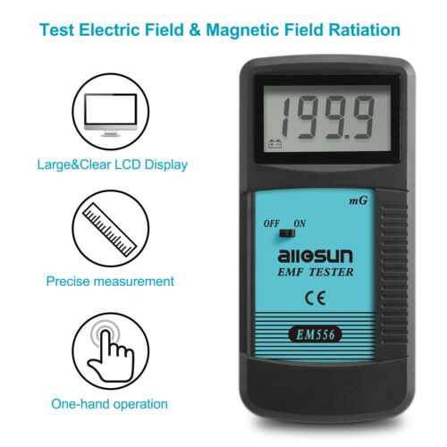 Digital LCD EMF Tester Electromagnetic Field Radiation Detector Dosimeter Tester