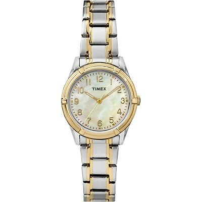 Timex TW2P76100, Women's Easton Avenue 2-Tone Bracelet Band Watch
