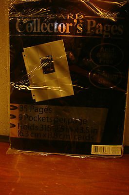 2 - 9 Pocket Collector Pages Acid Free Archival Safe New-Trading -