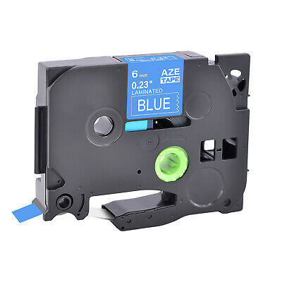 1pk Compatible Brother P-touch Tz-515 Tze-515 White On Blue Label Tape 6mm