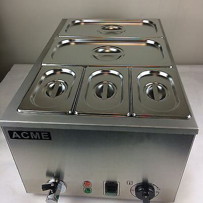 ACME 5 PAN WET WELL BAIN MARIE HOT FOOD SAUCE CARVERY HOLDER COMMERCIAL CATERING