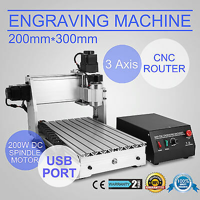 Cnc Router Graviermaschine FräSmaschine USB 3 Achse 3020T Milling FräSer