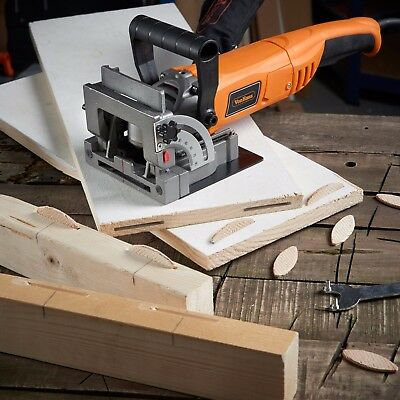 "VonHaus 8.5 Amp Wood Biscuit Plate Joiner with 4"" Tungsten Carbide Tipped Blade"
