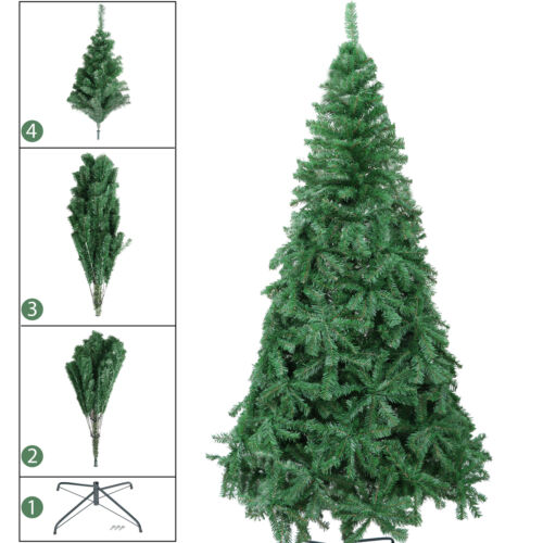7.5 FT Premium Artificial Christmas Tree 1346 Tips Full Tree with Stand PVC Christmas Trees