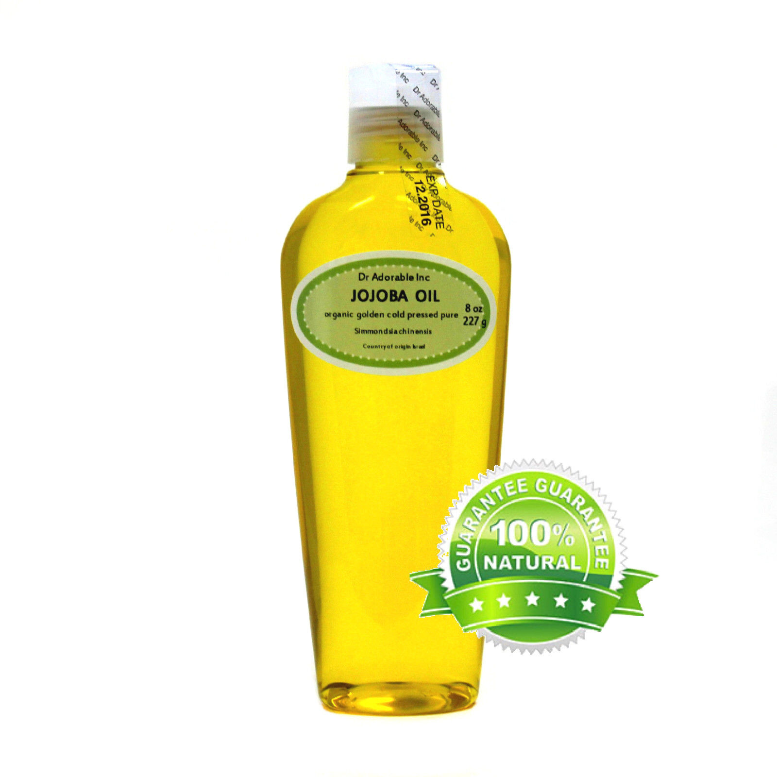 100% Pure Jojoba Oil Golden Organic by Dr.Adorable available