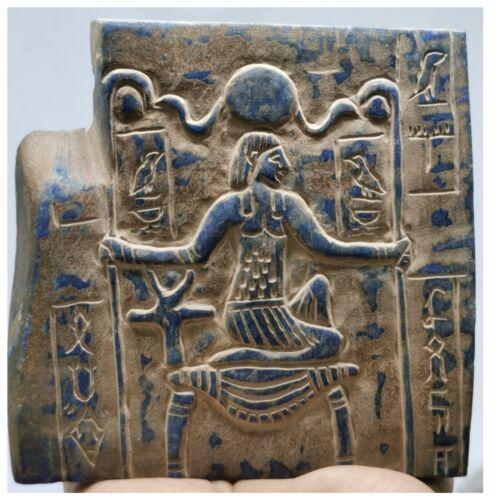 Antique Lapis lazuli stone carving rare unique relief Tile #119