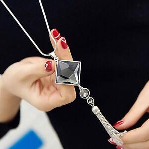 Women's Fashion Nice Jewelry Grade Zircon Necklace Tassel Sweater Long Chain