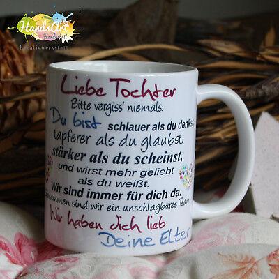 Valentin Kinder (Tasse / Liebe Tochter - Deine Eltern/ Geschenk Kinder Weihnachten Valentinstag)
