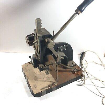 Vintage Wyman Model B Gold Stamper Hot Foil Stamping Embossing Machine - Aa