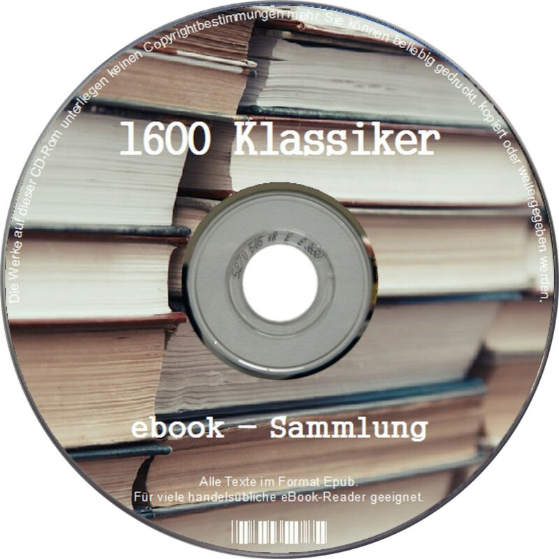 1600 ebooks KLASSIKER ebooksammlung Literatur CD SAMMLUNG ebook KINDLE portofrei