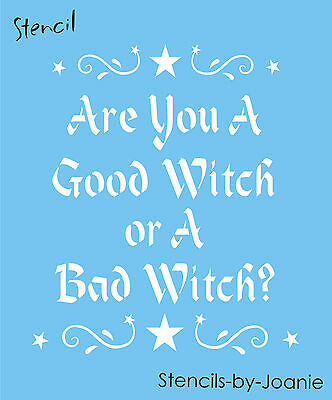 ncil Are You Good Bad Witch Scroll Swirl Star Border Signs (Halloween Bad Sign)