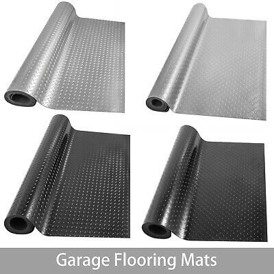 Garage Flooring Mat Roll Trailer Floor Covering Flooring Raised Mat Black Silver Garage Floor Cover