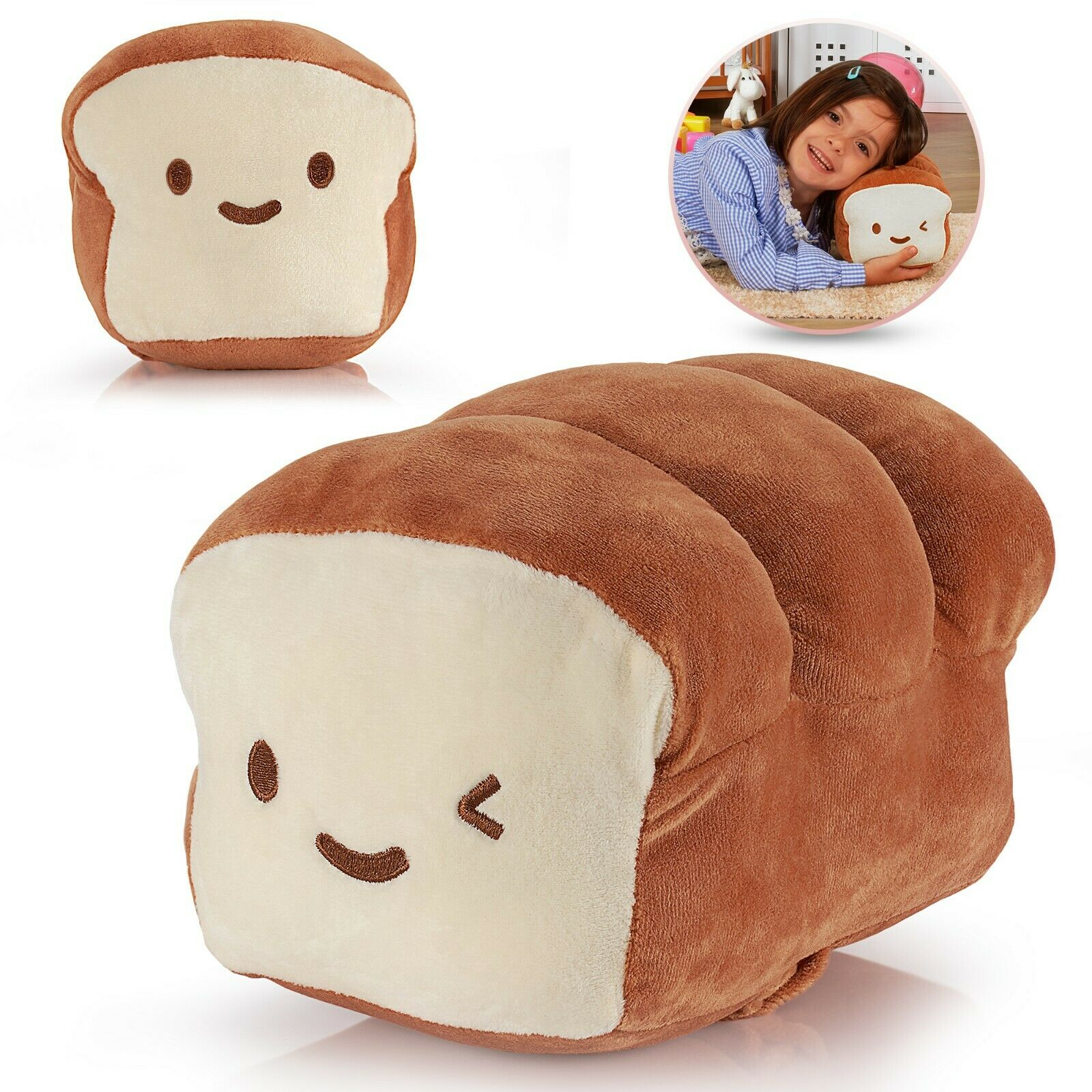 bread plush pillow cushion doll cotton food