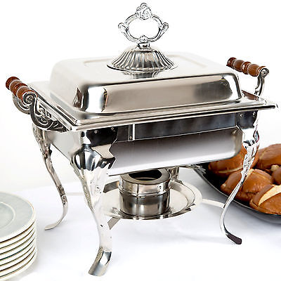 Catering Classic Stainless Steel Chafer Chafing Dish Set 4 Qt Buffet Half