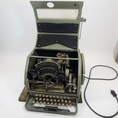 Western Union Telegraph Simplex Printer 2-B Teletype Corp. Machine Chicago USA