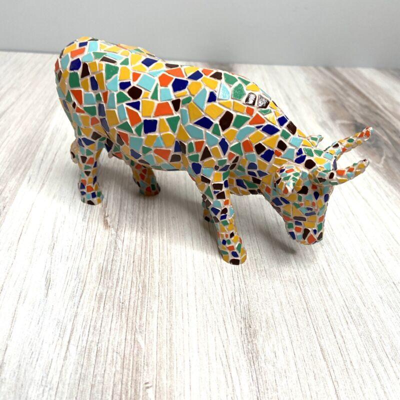 Cow Parade #9143 MOOSAIC Collectible Figurine