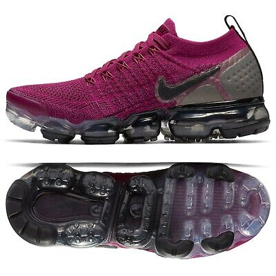 Nike W Air VaporMax Flyknit 2 Fuchsia 942843-603 Raspberry Red/Berry Shoes Sz 7
