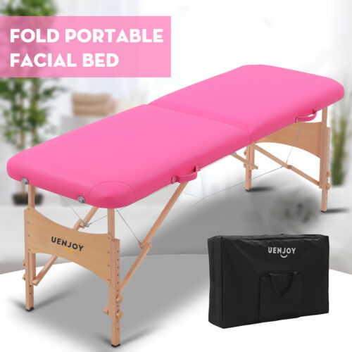 "73""L Pro Fold Portable Massage Table Facial SPA Bed Tattoo w"
