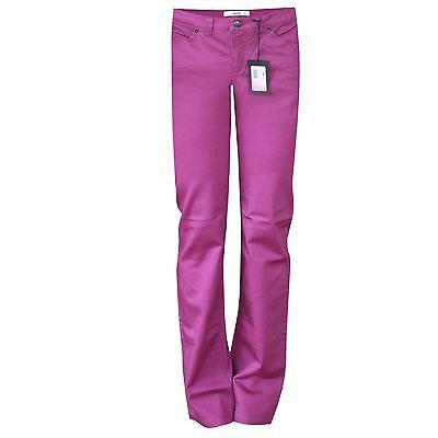 PRADA purple slim straight leg fit cotton trousers denim pants 38-IT/2-US NEW