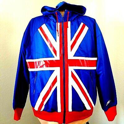 NIKE Sportswear British UK England Flag - Windbreaker Hoodie Jacket Size Small