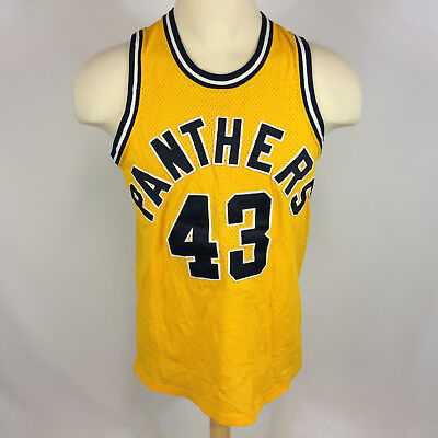 Vtg 70s 80s Sewn College University High School Gym Basketball Jersey Tank Top